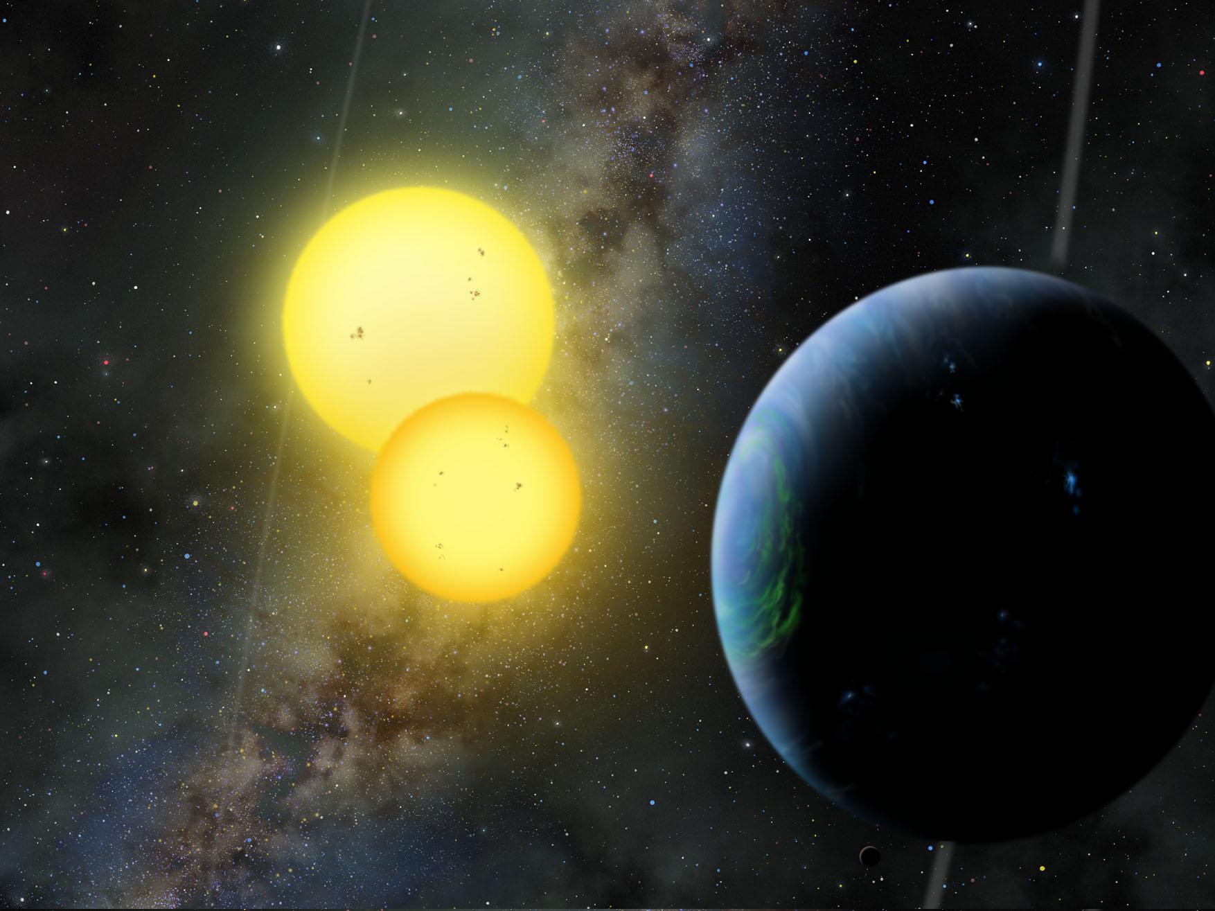 The Kepler-35 planet.